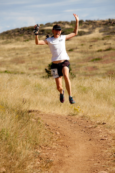 The Creative Department at Gnar Runners, Mary Boyts, getting significant air. Erin Bibeau.