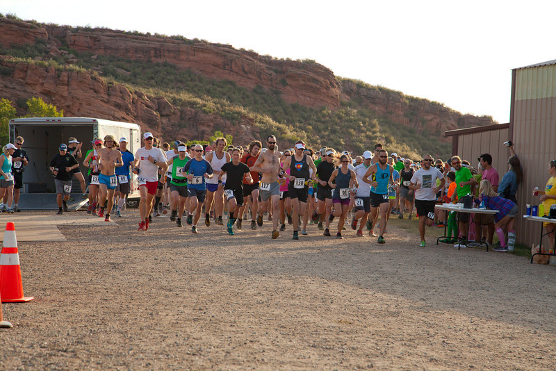 The start of the inaugural running of the Black Squirrel Half marathon. Erin Bibeau Photography.