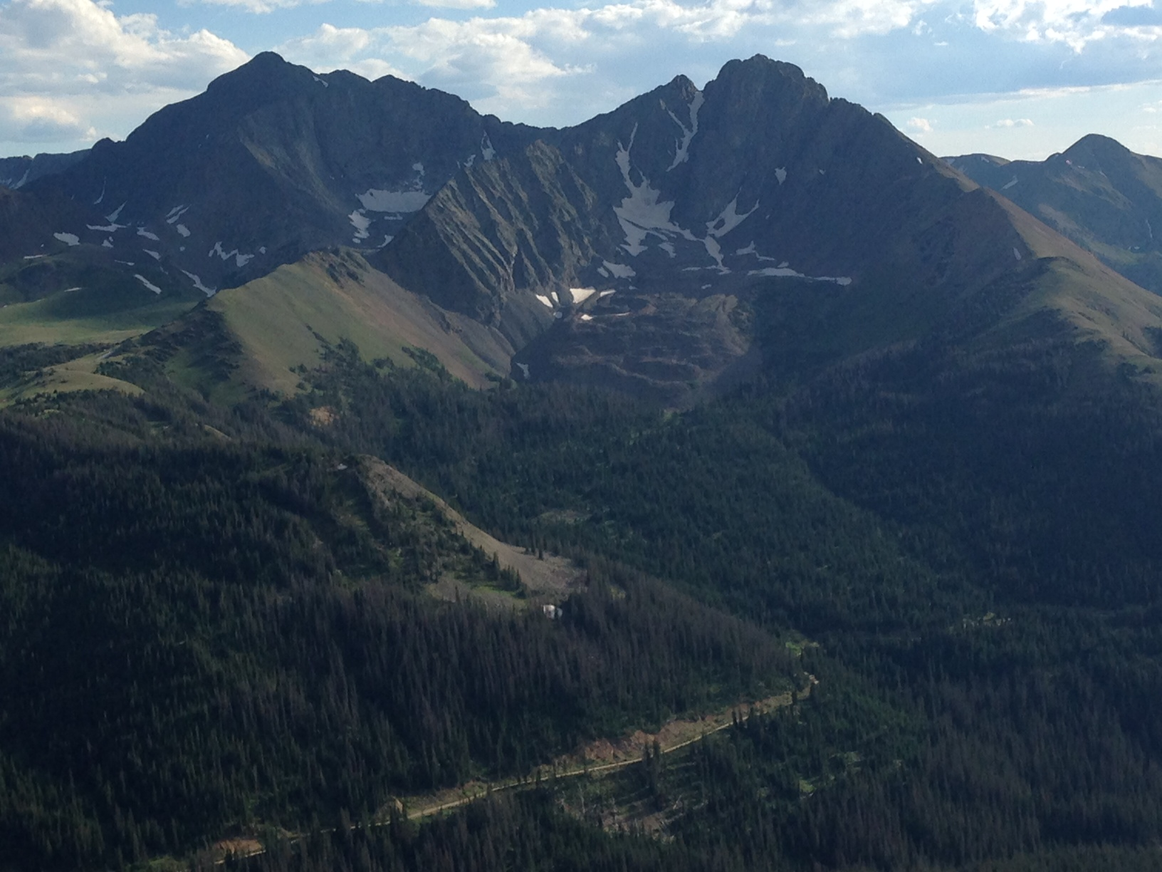 Nokhu Crags and American Lakes from North Diamond Peak