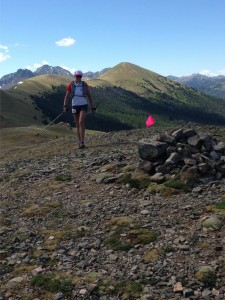 Alyson Kirk on Montgomery Ridge - 2016 Never Summer 100K