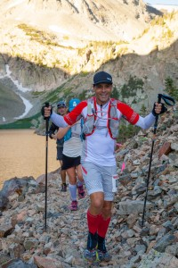 Stephen Kukta at Lake Agnes - 2016 Never Summer 100K