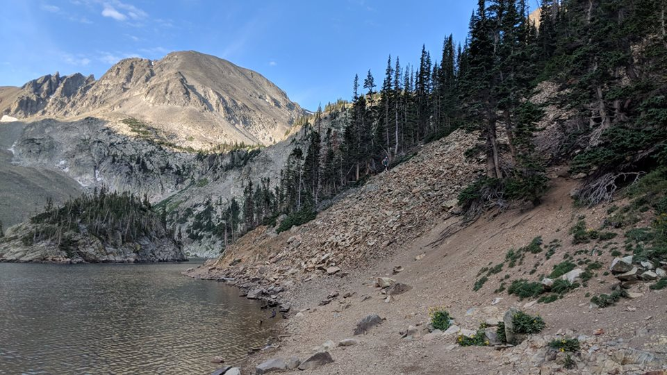 Lake Agnes at the 2018 Never Summer 100K